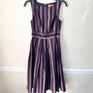 Modcloth Striped Fit & Flare Dress